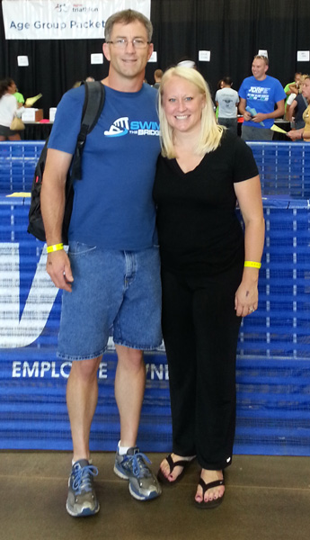 Tiffany and me at packet pickup before the race.